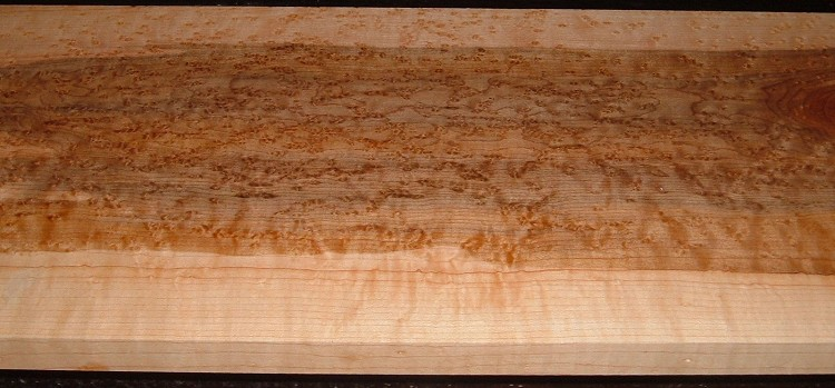 BEM2010-72, 3/4x8-1/2x40, Quilted Birdseye Hard Maple