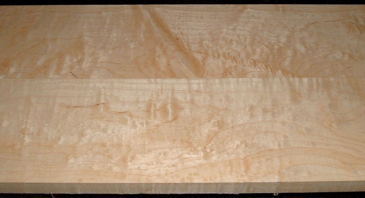 HM2101-24, 11/16x5-1/4x51, 3/4x5-1/4x51, Cut from the same plank, Curly Tiger Hard Maple