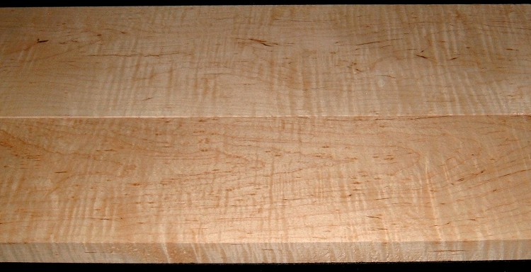 M2007-552, 1-1/8x6-1/2x40, 1-3/16x8-1/4x40, Curly Tiger Maple, Cut from Same Plank, Mineral Streaked Curly Maple