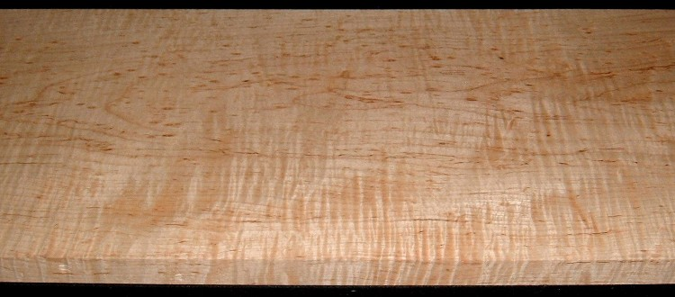 M2007-555, 1-1/16x12x37, Mineral Streaked Curly Maple
