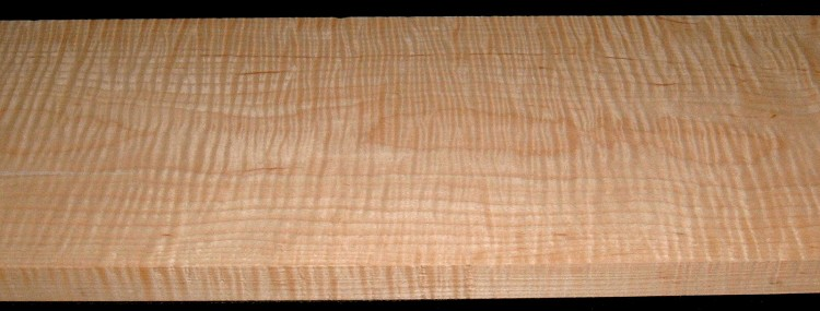 M2007-578,1-1/8x9x55, Curly Tiger Maple