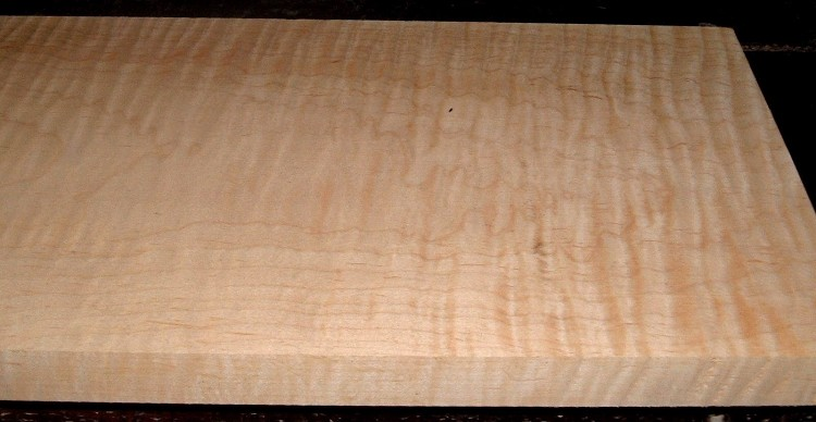 M2102-116, 1-1/16x9x58, Curly Tiger Maple