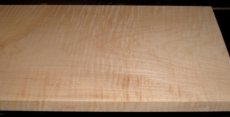 M2102-129, 1-1/16x10-1/4x53, Curly Tiger Maple