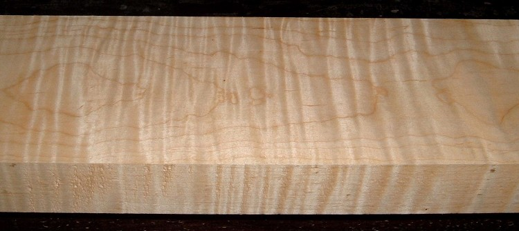 M2103-199,  1-15/16x5-3/4x53, Curly Tiger Maple