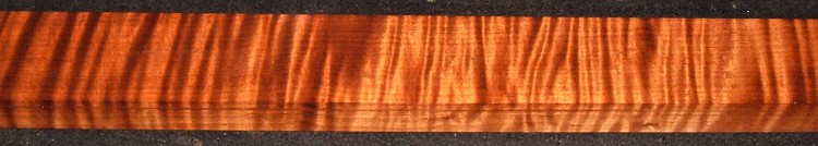 QRM2010-350JK, 1-1/4x2-1/2x47, Quartersawn Roasted Curly Maple