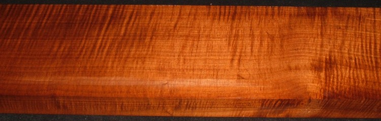 QRM2010-358JK, 1-15/16x7x47, Quartersawn Roasted Curly Maple