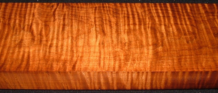 RM2104-116JJ, 2x5-1/4x45, Roasted Curly Maple
