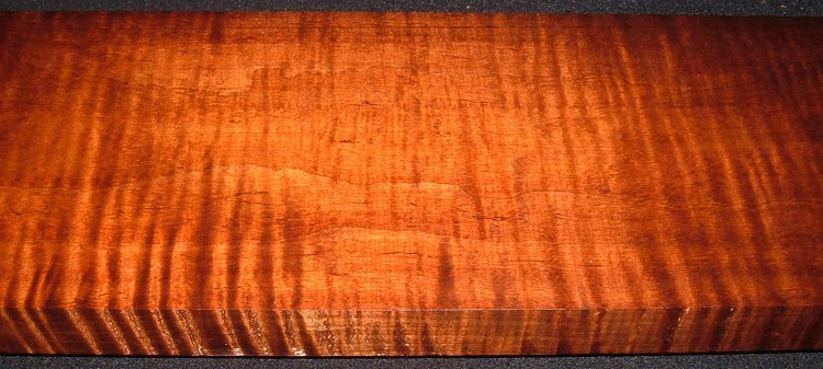 RM2104-117JJ, 1-1/2x6-13/16x47, Roasted Curly Maple