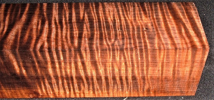 RMT-2598JJ, 2-9/16x2-1/2x11-7/8, Torrefied Roasted, Curly Tiger Maple, Turning Block