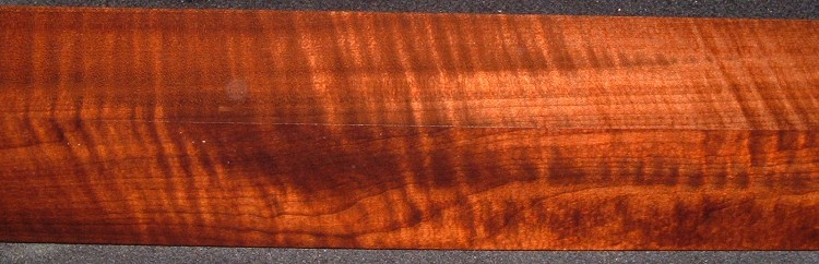 RTB-4, 2-7/16x2-3/4x48, Roasted Torrefied, Curly Tiger Maple Turning Block