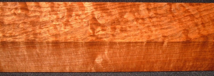 RTB-8,2-5/8x2-3/4x28, Torrefied Roasted, Curly/Blistered Quilted Figured, Maple Turning Block
