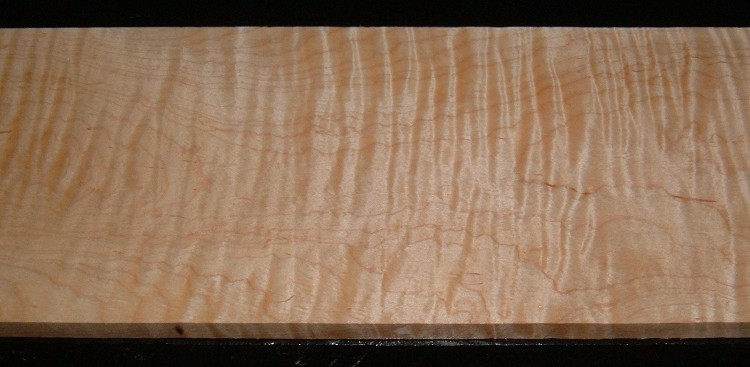 S-2138, 9/16x6-1/8x25, Curly Tiger Maple