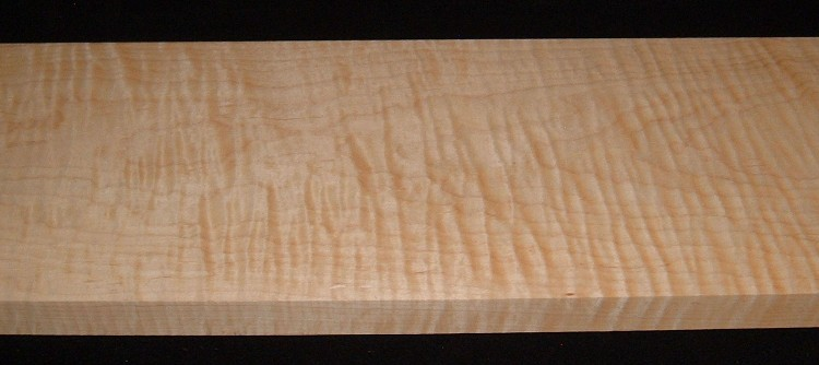 MS-2899, 1-1/8x8-1/4x33, Figured Curly Maple
