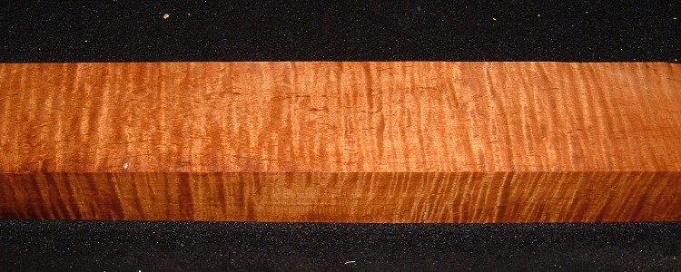 RMS-3148, 2-1/8x2-7/8x20+, Roasted Torrefied, Curly Tiger Maple