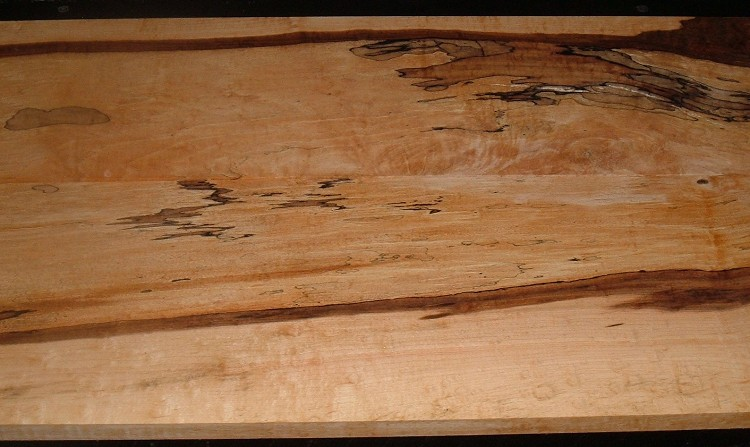 SM2005-23JJ, 2 bds, 3/4x7-1/2x39, 13/16x8-1/4x39, Spalted Hard Maple