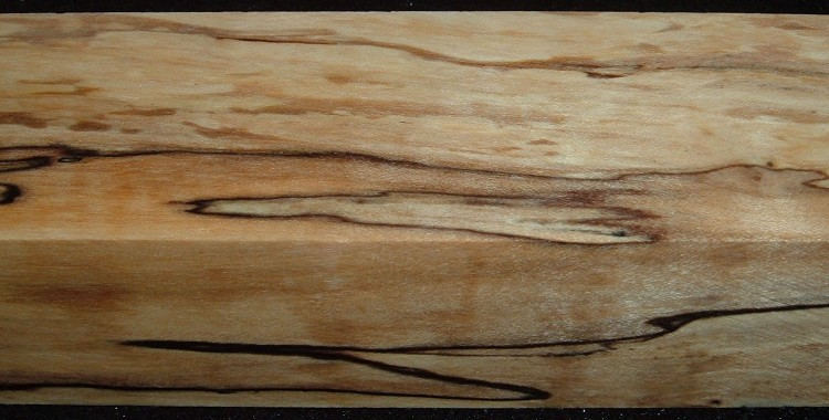 Z342, 1-1/16x1-11/16x5-1/4, Clear, Spalted Maple Stabilized, wood block scales/handle