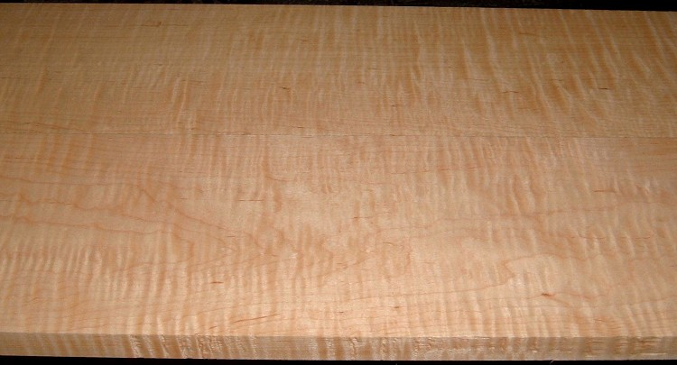 HM2005-78, 2bds, 3/4x6x60, 13/16x6-1/4x60, Curly Tiger Hard Maple
