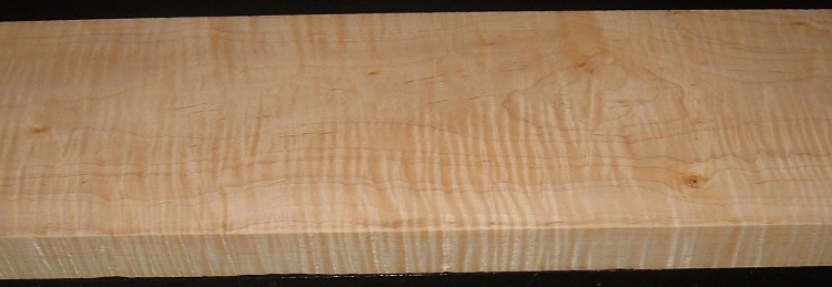 M2004-387JJ, 1-7/16x7-1/4x47, Curly Tiger Maple