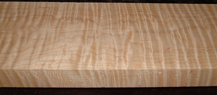 M2007-617, 1-3/4x6-3/8x31 Curly Tiger Maple