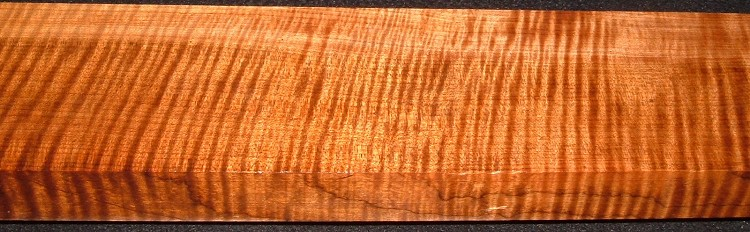 QRM2008-212, 1-1/8x3-5/8x42, Quartersawn Roasted Curly Maple
