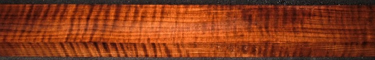 QRM2009-176JK, 1-5/16x2-1/2x48, Quartersawn Roasted Curly Maple