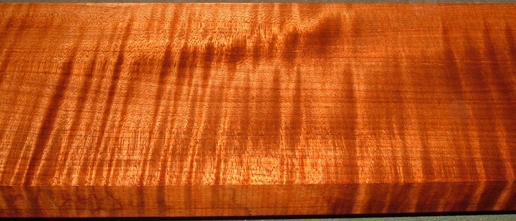 QRM2001-1, 1-3/16x5-1/2x33, Roasted Torrefied, Curly Tiger Quartersawn Maple