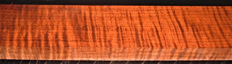QRM2009-240JK, 1-5/16x3-1/2x49, Roasted Torrefied, Curly Tiger Quartersawn Maple