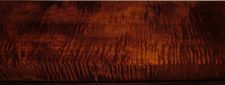 RM1908-38L, 1-9/16x6-5/8x51, Roasted Torrefied, Curly Tiger Maple