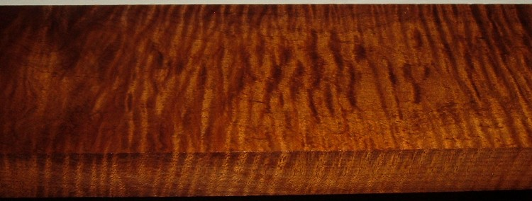 RM2004-106, 1-5/16x4-1/8x36, Roasted Torrefied Curly, Tiger Maple