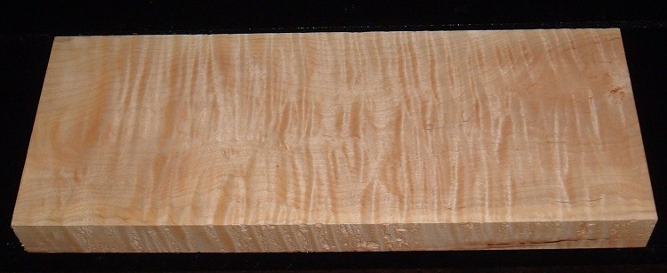 S-2169, 1-3/4x7-3/8x19, Curly Tiger Maple