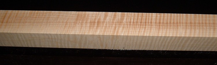 S-2192, 1-15/16x1-15/16x41, Curly Tiger Maple Turning Square