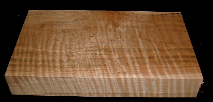 HWS-2908n, 1-7/8x6-7/8x12+, Curly Tiger Maple, Heartwood/Sapwood Blend, Turning Wood