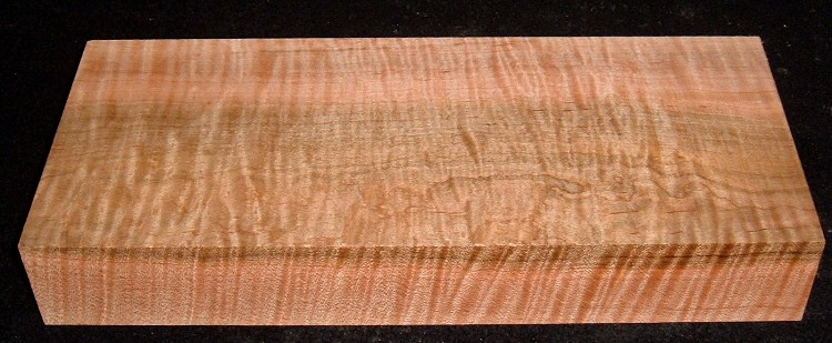 HWS-2914n, 1-13/16x5x12, Curly Tiger Maple, Heartwood/Sapwood Blend, Turning Wood