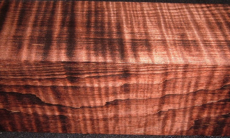 Z211, 2-3/4x2-3/4x11-3/4, Brown, Curly Tiger Maple Dyed Stabilized, wood turning block